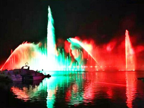The water light show of the Boao forum for Asia